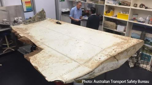 [219] Wing part from missing Malaysian Airlines MH370