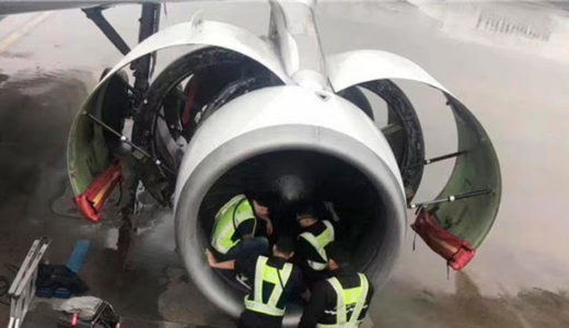 [242] Superstitious woman causes safety scare by throwing coins into jet engine