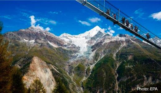 [244] Suspension walkway over the Alps