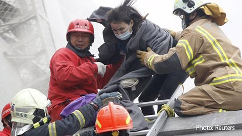 [191] Taiwan earthquake victims survive two days until rescue
