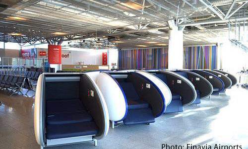 [147] Sleeping pods at Helsinki airport, Finland