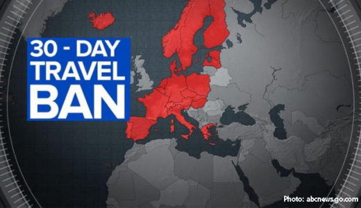 [249] Thirty-day travel banned from Europe to U.S.A.